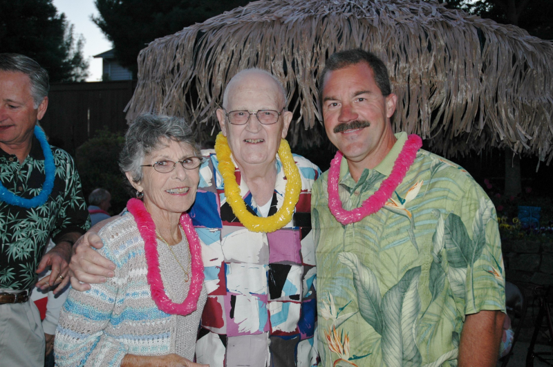 Luau at Aus home - George and Annie Hudson and Scott Sasse