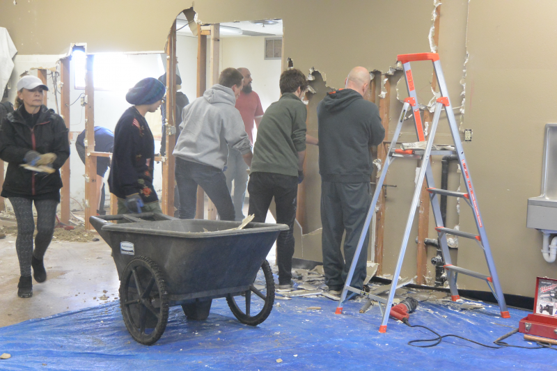 Renovating the kitchen and workroom at The Canby Center 2018