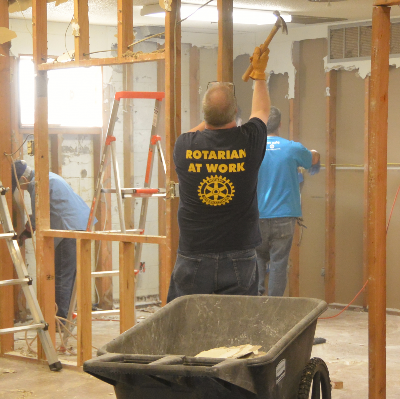 Rotarians working at The Canby Center