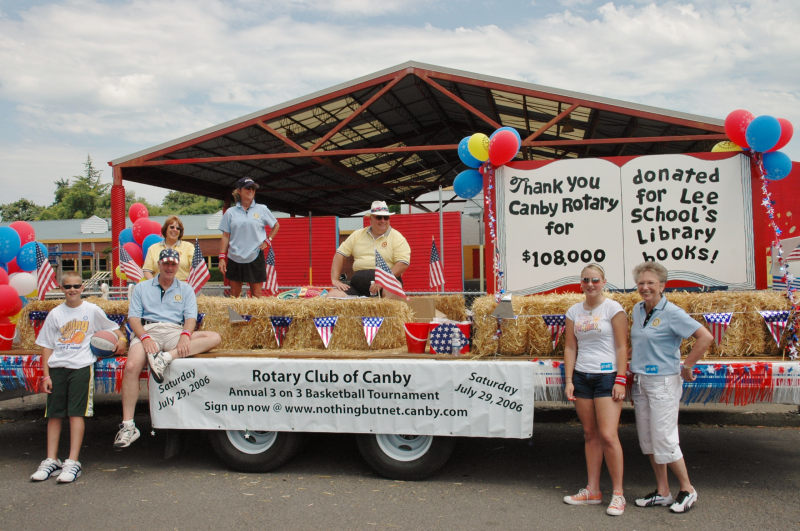 Canby Rotary Float for General Canby Days Parade