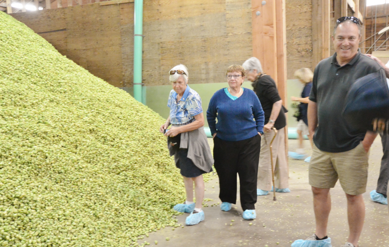 The Rotarian Friendship Exchange toured the Goshie Farms Hop Dryer.