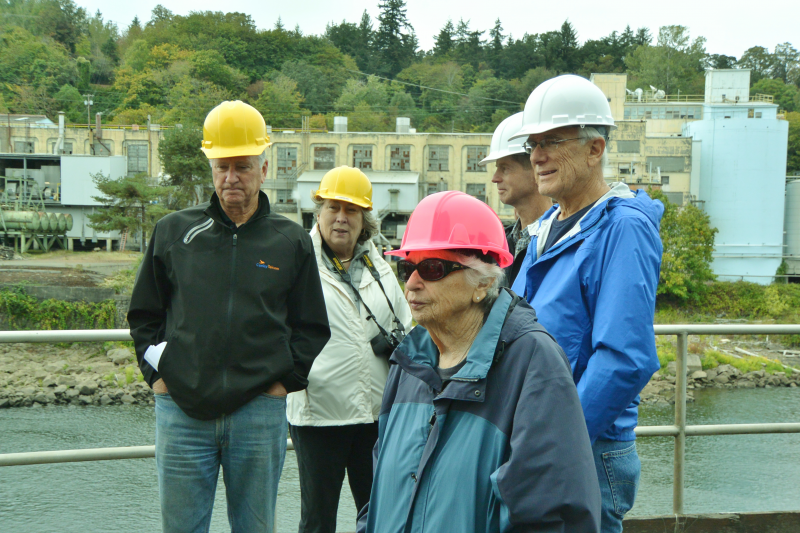 Canby Rotarians touring the Blue Heron Mill in Oregon City, Oregon.