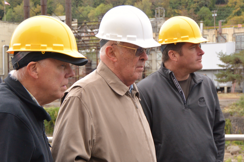 The Hard Hat Trio at the vacant paper mill in Oregon City, Oregon.