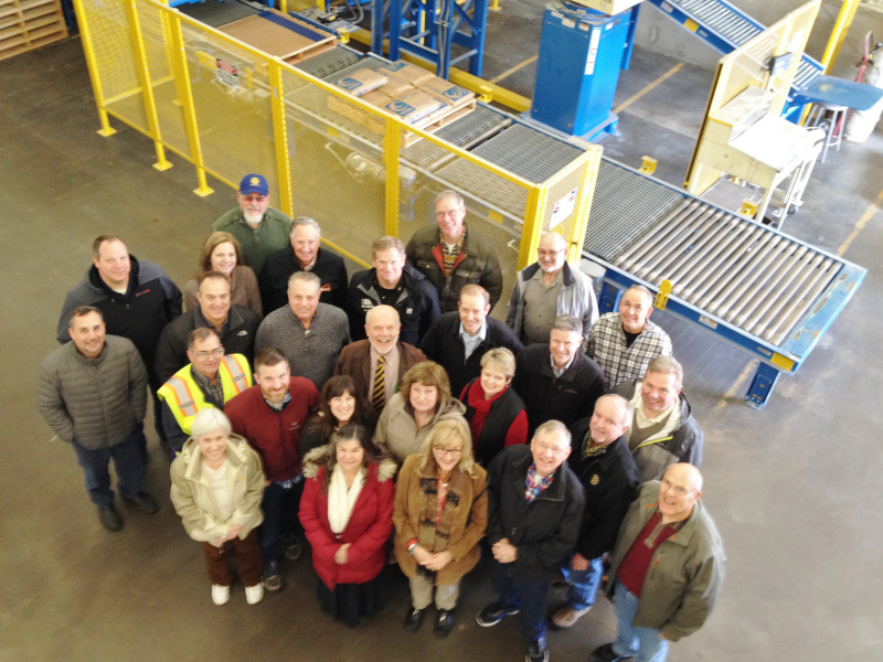 Rotarians visiting Potter's on Vocational Tour of the plant.