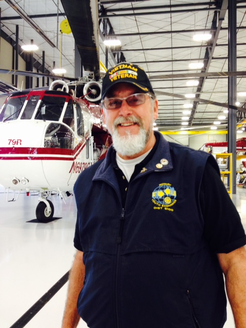 Mark tours Columbia Helicopter with Canby Rotary Vocational Tour