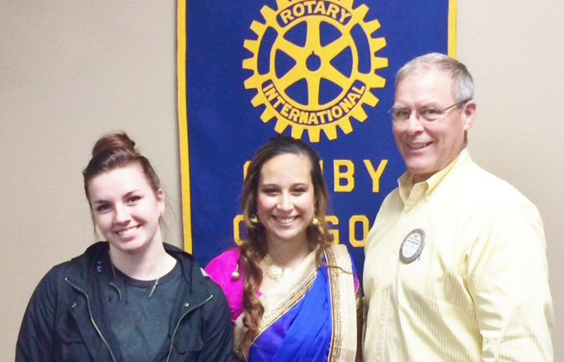 Youth Exchange students who returned from an exchange to India with Rotarian Tony.